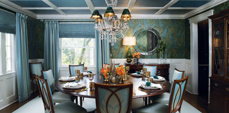 Blue Dining Room Interior Design Nj