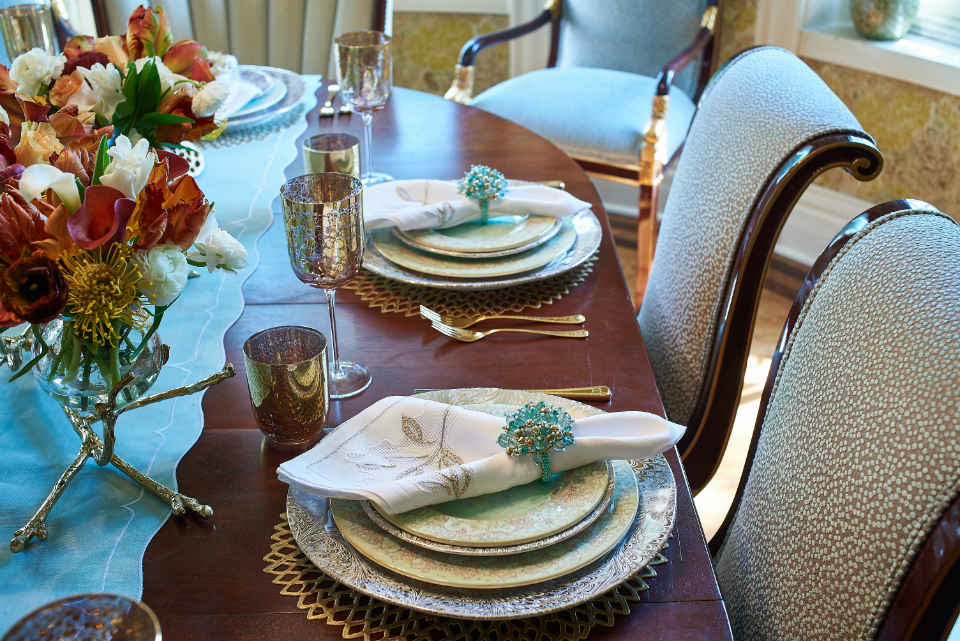 Dining Room Place Setting Design By Liepold Design Group