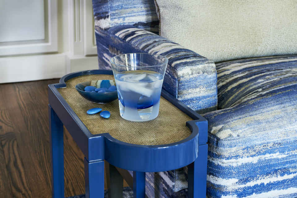 End Table Blue Home Decor Interior Design