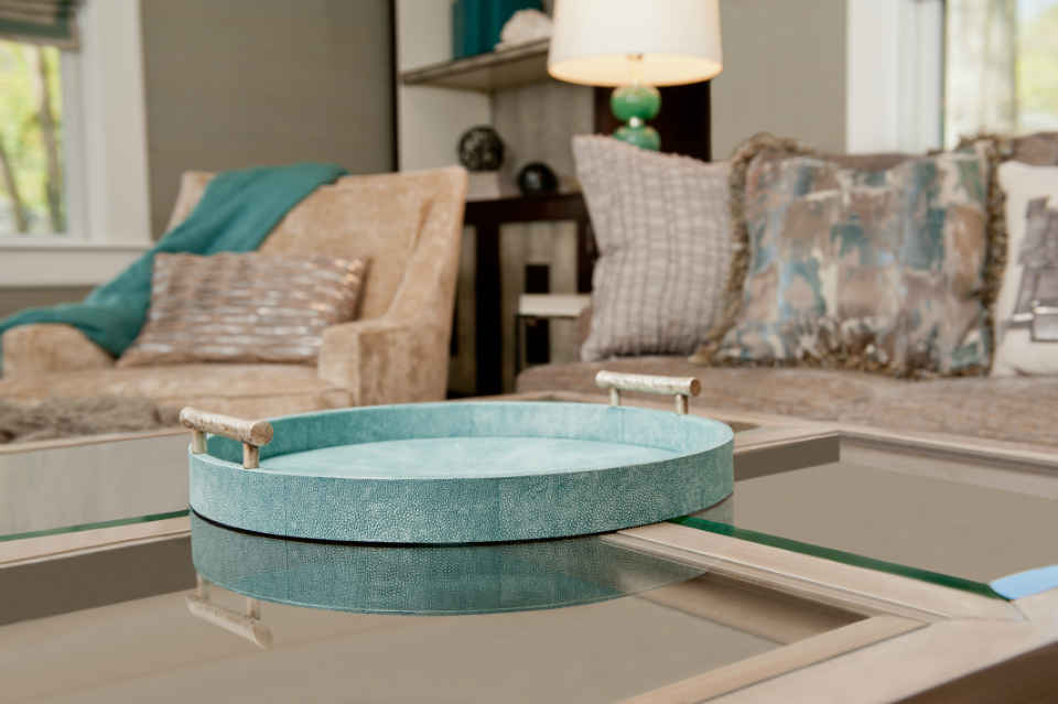 Family Room Coffee Table Teal Interior Design