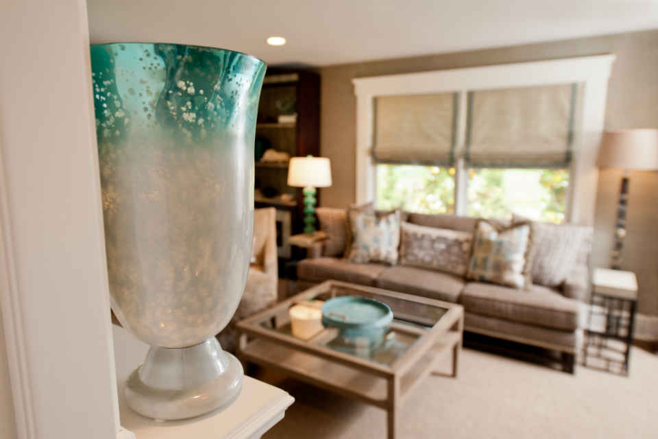 Family Room Teal Interior Design By Liepold Design Group