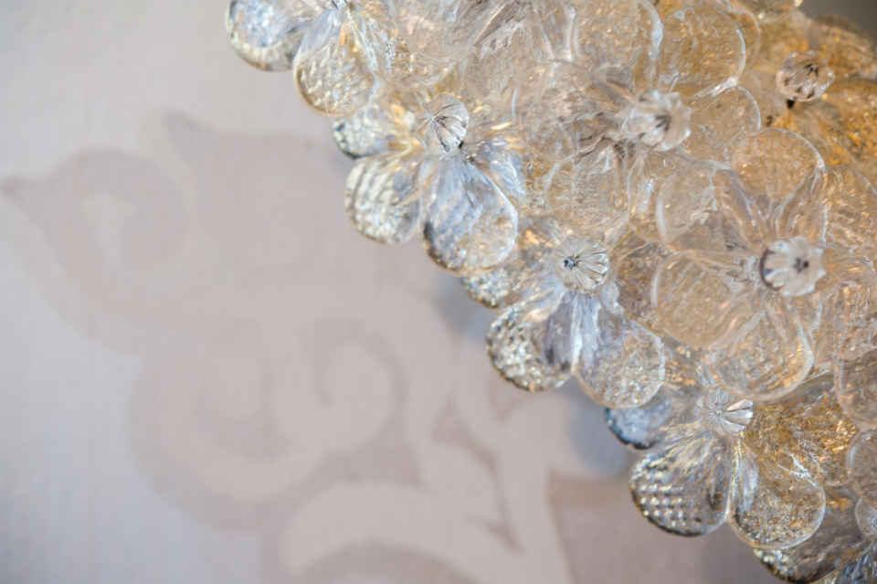 Glass Floral Mirror Frame Interior Design Nj