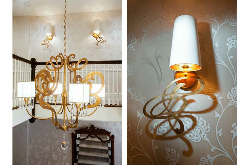 Gold Chandelier Interior Design Maplewood Nj