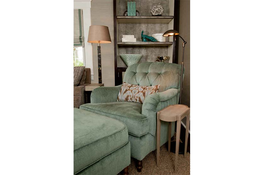 Living Room Sage Green Arm Chair