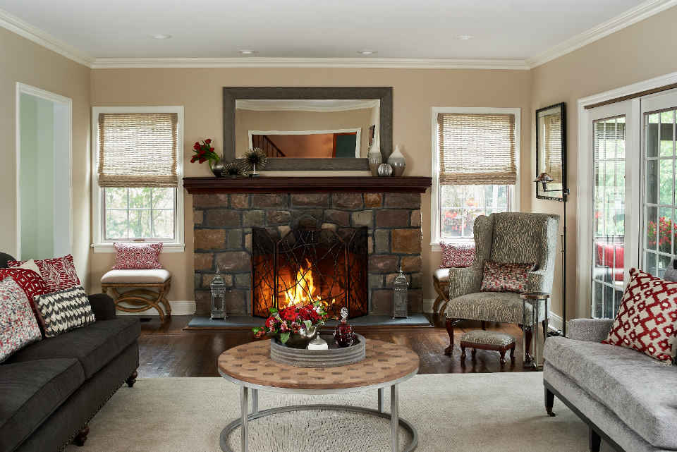 Millburn Nj Family Room Interior Design