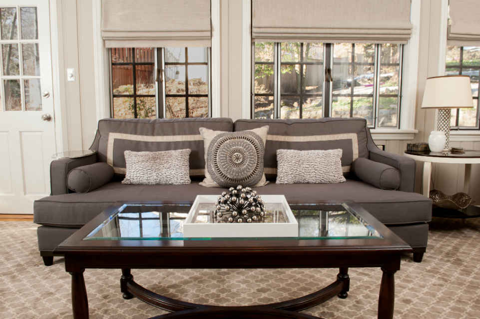 Muted Tone Family Room Sofa By Liepold Design Group
