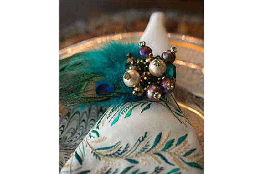 Peacock Place Setting Interior Design